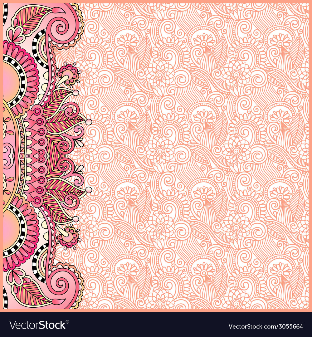 Vintage floral background for your design vector | Price: 1 Credit (USD $1)