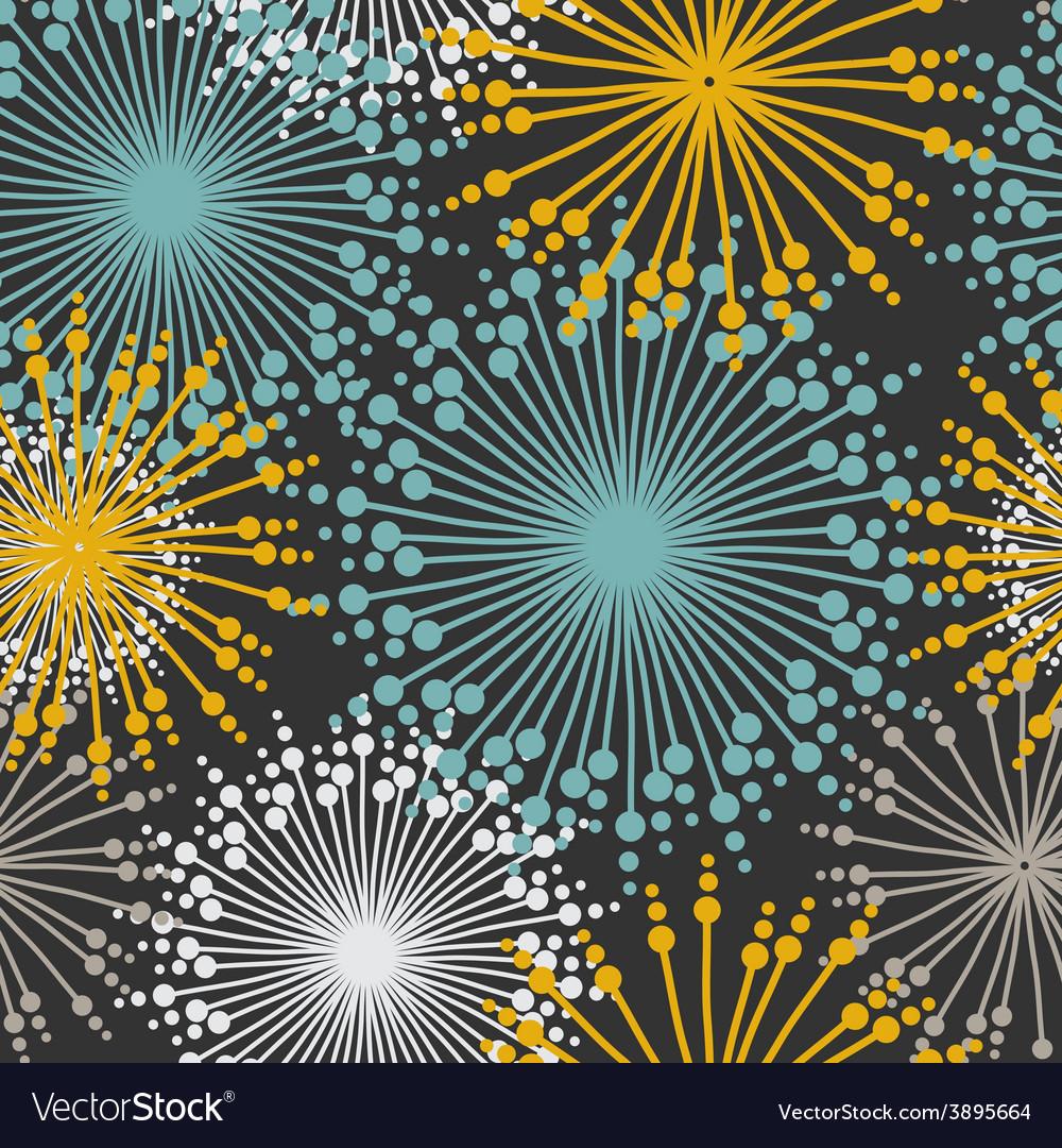 Vintage floral pattern in dark pastel colors vector | Price: 1 Credit (USD $1)