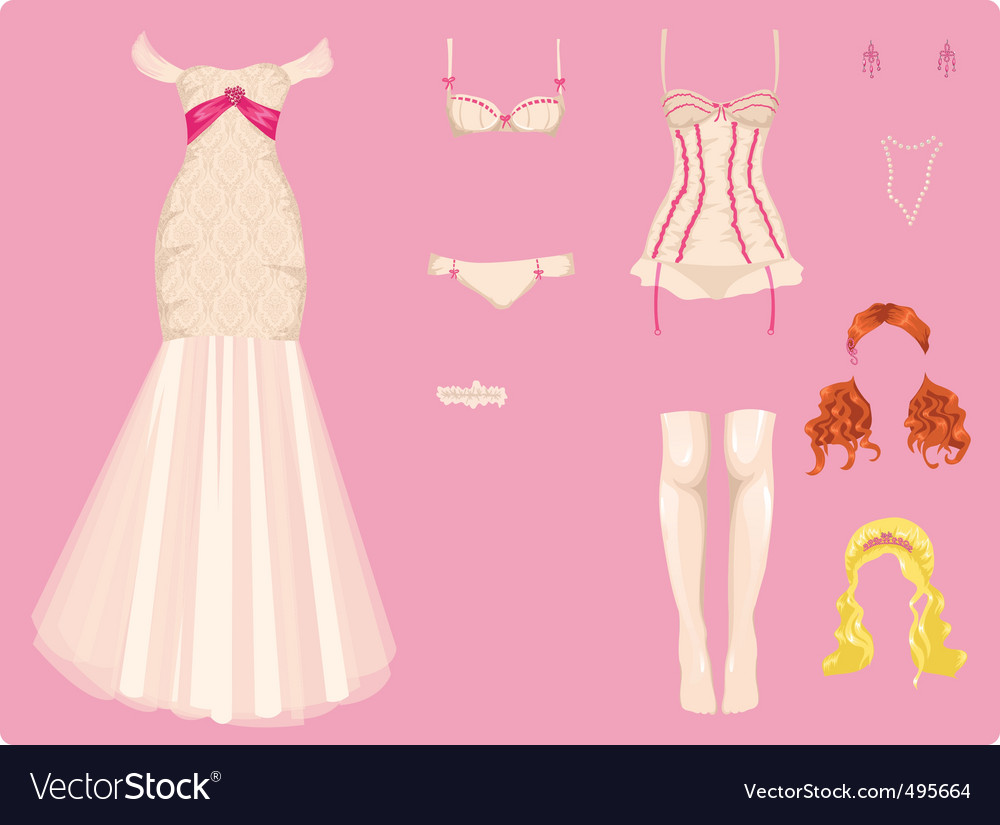 Wedding clothes vector | Price: 1 Credit (USD $1)