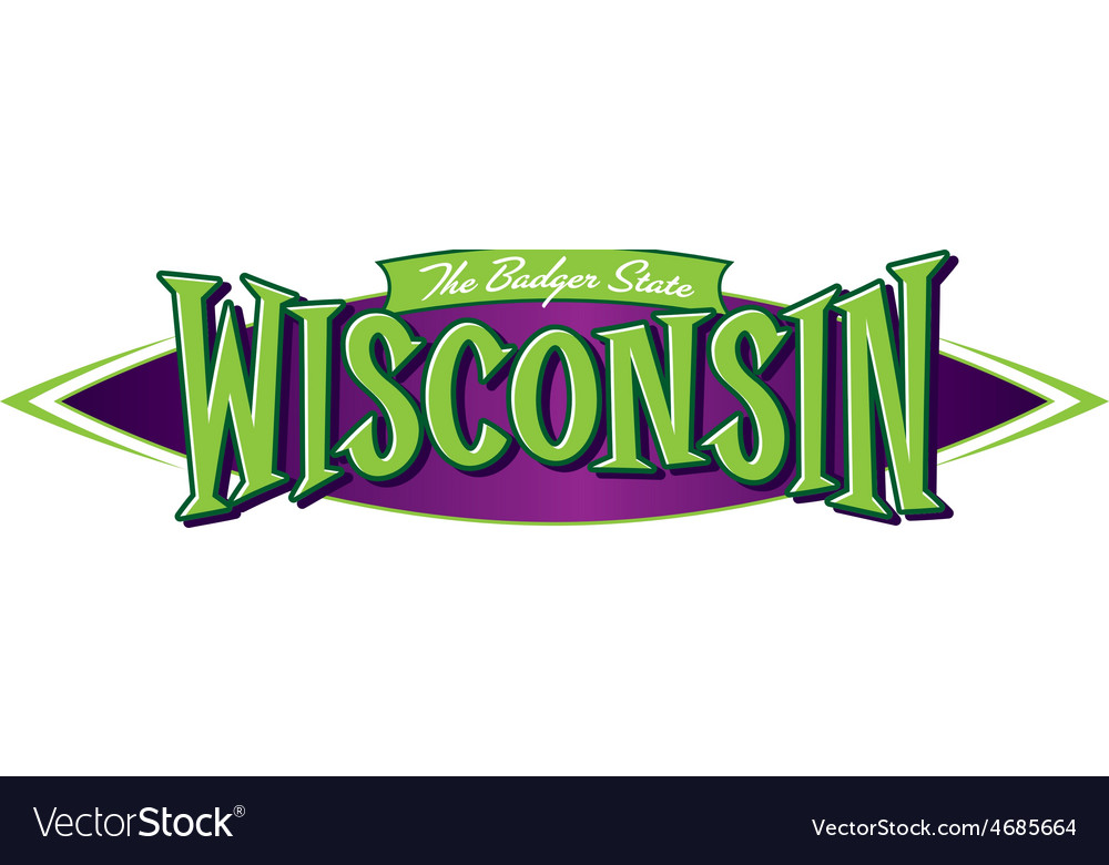 Wisconsin the badger state vector | Price: 3 Credit (USD $3)