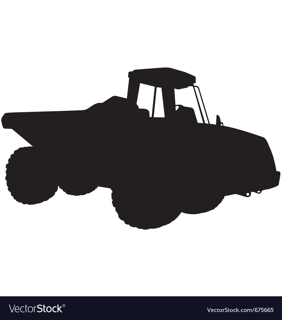 Articulated dumper truck silhouette vector | Price: 1 Credit (USD $1)