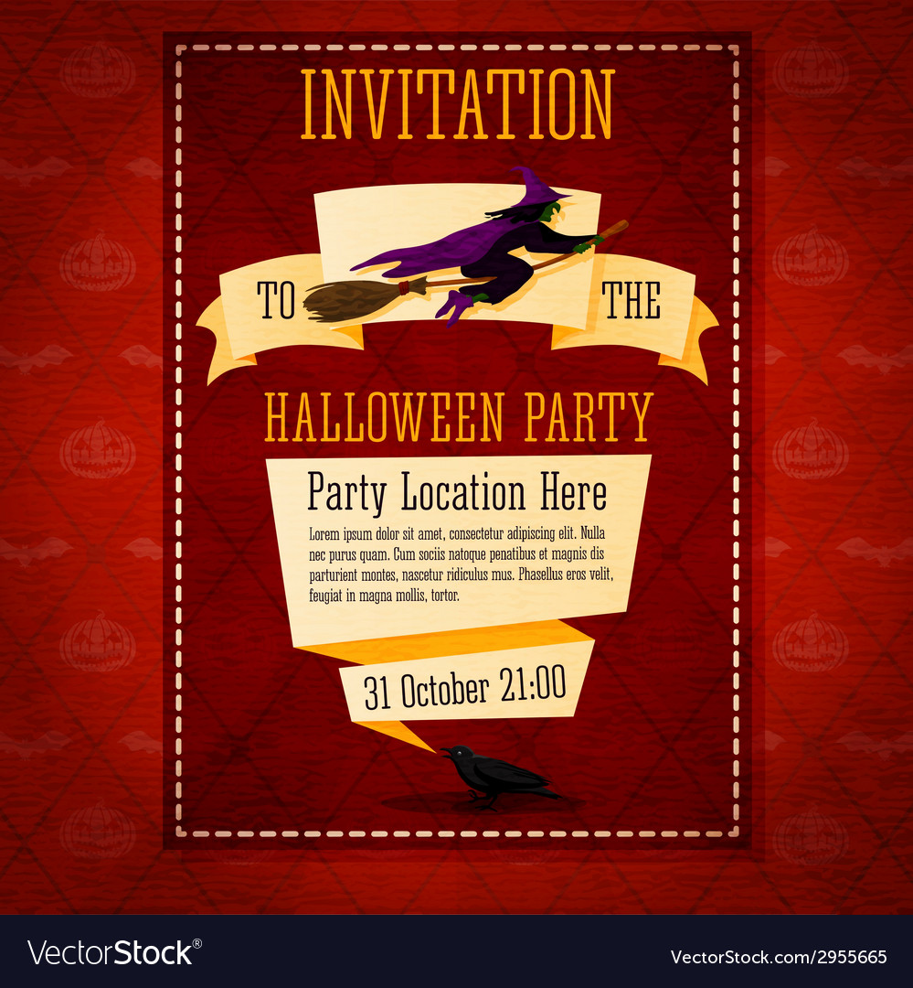 Banner invitation to the halloween party with vector | Price: 1 Credit (USD $1)