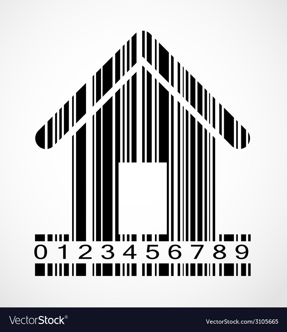 Barcode home image vector | Price: 1 Credit (USD $1)