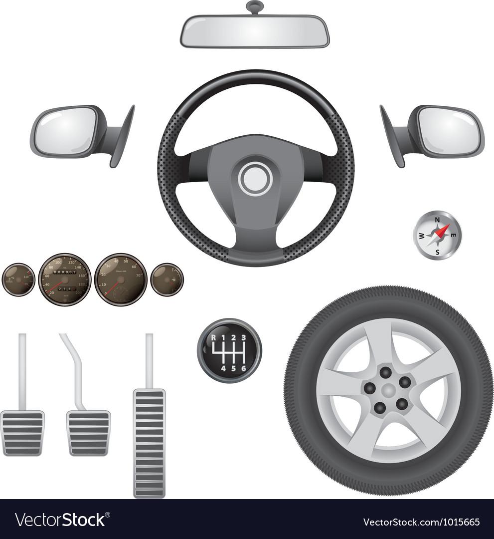 Car parts vector | Price: 1 Credit (USD $1)