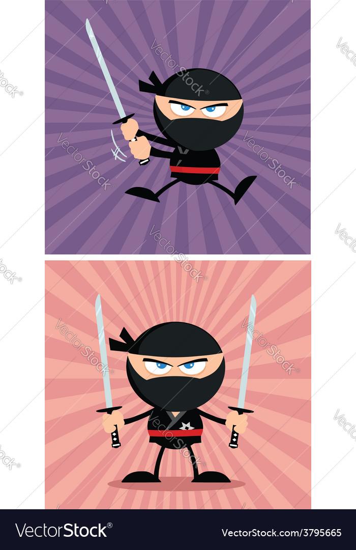 Cartoon ninja design vector   Price: 1 Credit (USD $1)