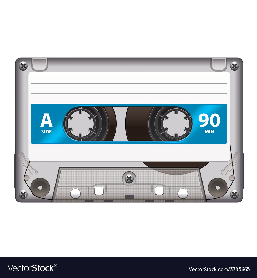 Cassette tape isolated vector | Price: 3 Credit (USD $3)