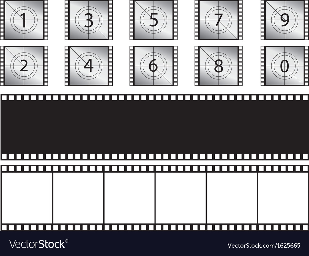Film strips and countdown vector | Price: 1 Credit (USD $1)
