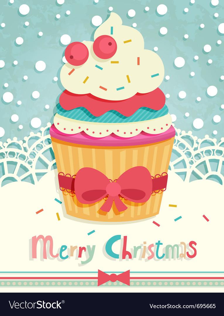Funny christmas postcard vector | Price: 1 Credit (USD $1)