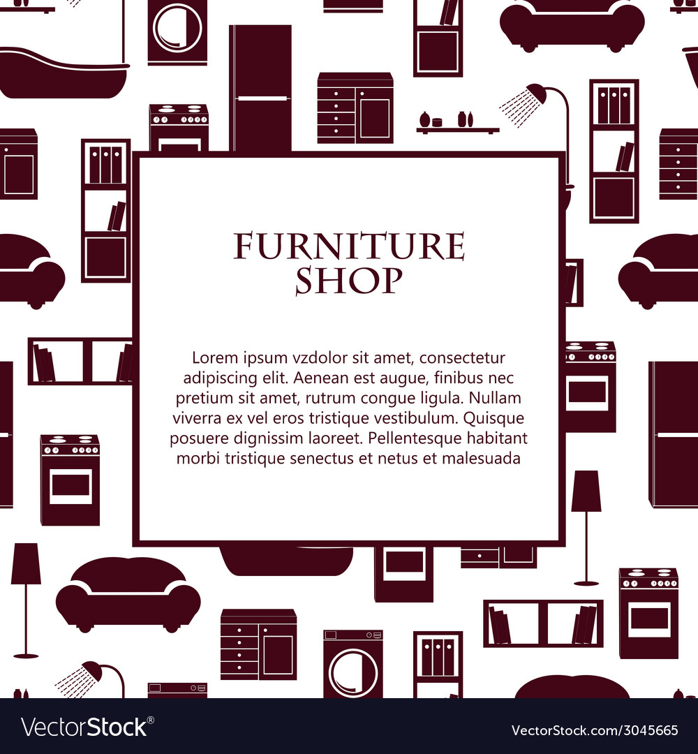 Home interior furniture background vector | Price: 1 Credit (USD $1)