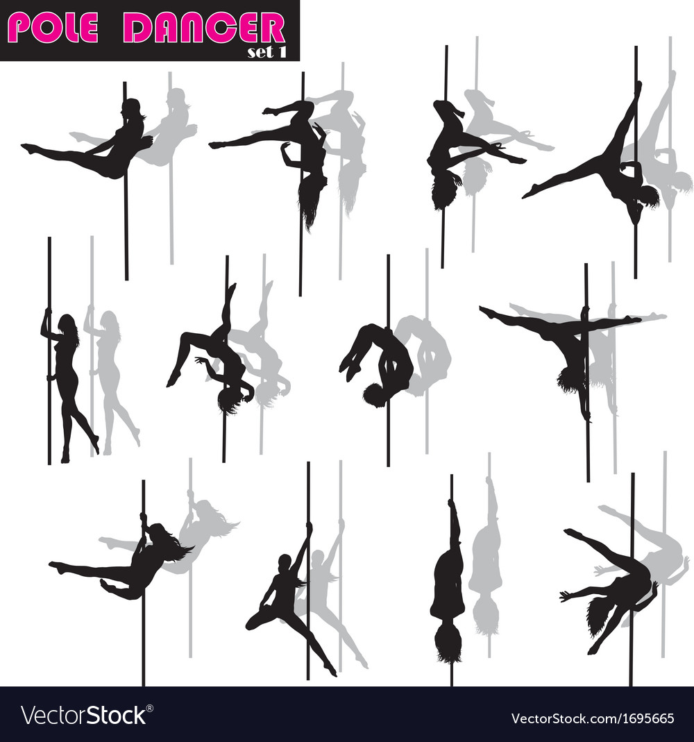 Pole dancer set vector | Price: 1 Credit (USD $1)