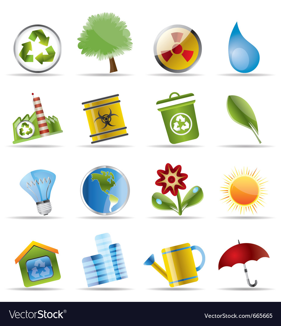 Realistic icon - ecology vector | Price: 1 Credit (USD $1)