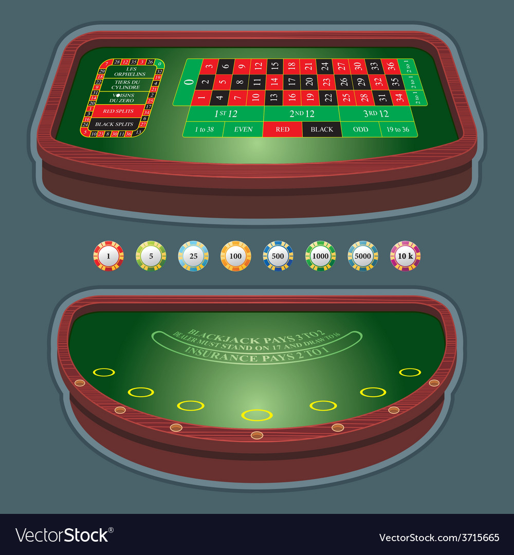 Roulette table blackjack vector | Price: 1 Credit (USD $1)