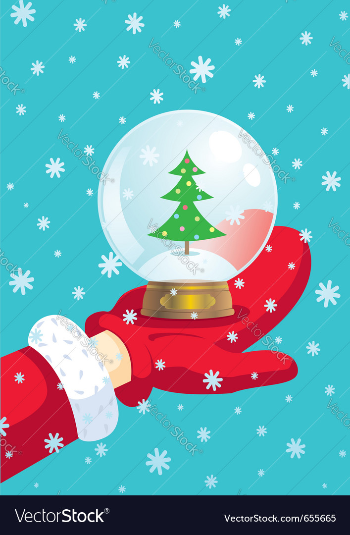 Santa claus and snow ball vector | Price: 1 Credit (USD $1)