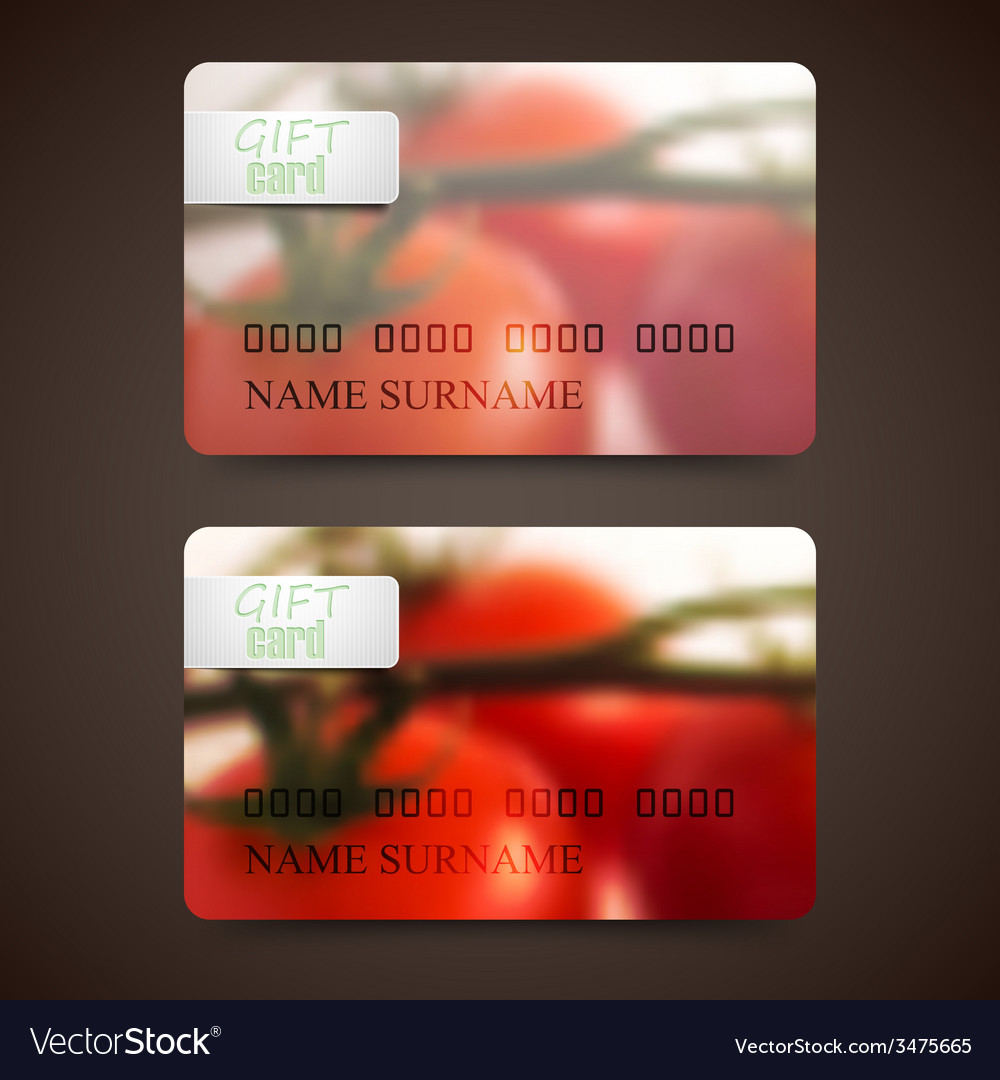 Set of gift cards with blurred background of red vector | Price: 1 Credit (USD $1)