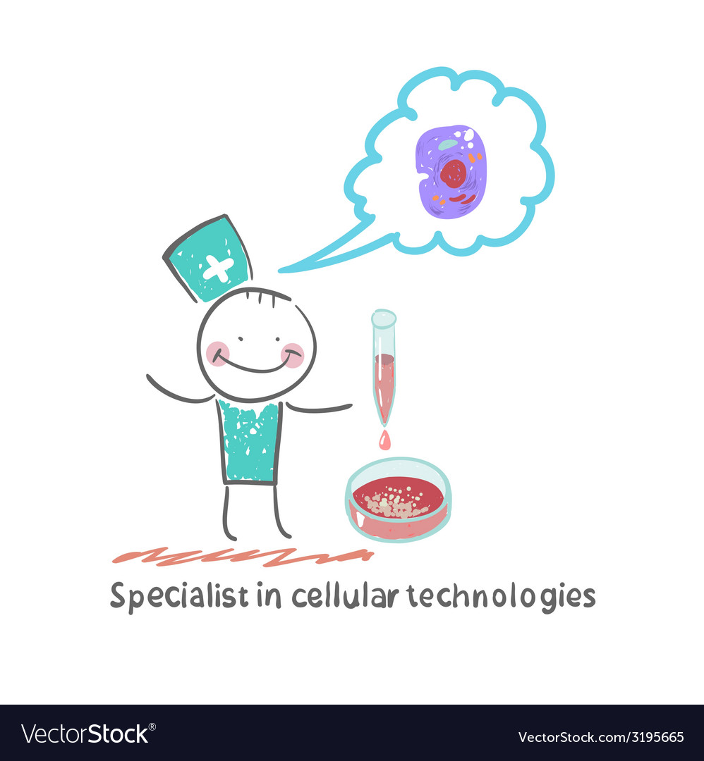 Specialist in cellular technology makes watching vector | Price: 1 Credit (USD $1)