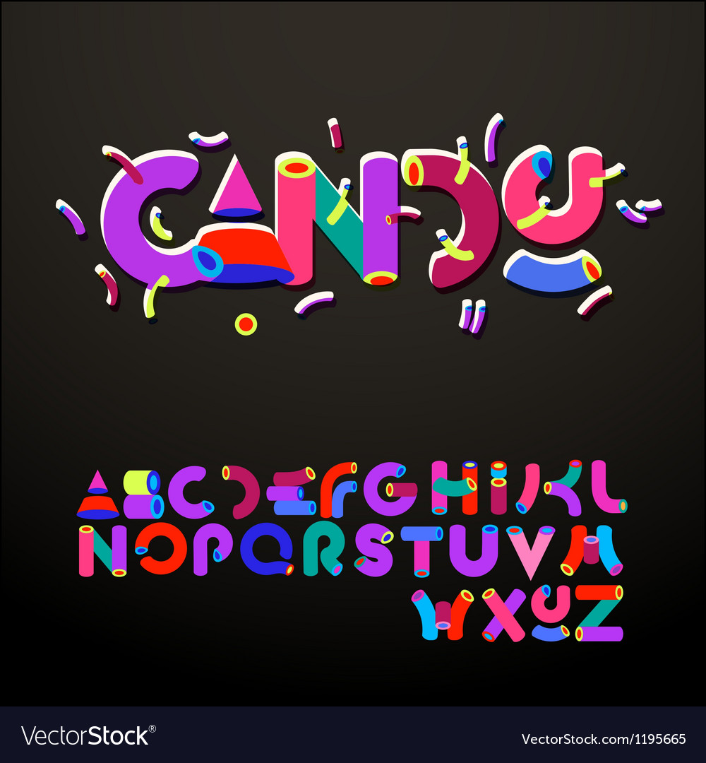 Stylized candy-like alphabets vector | Price: 1 Credit (USD $1)
