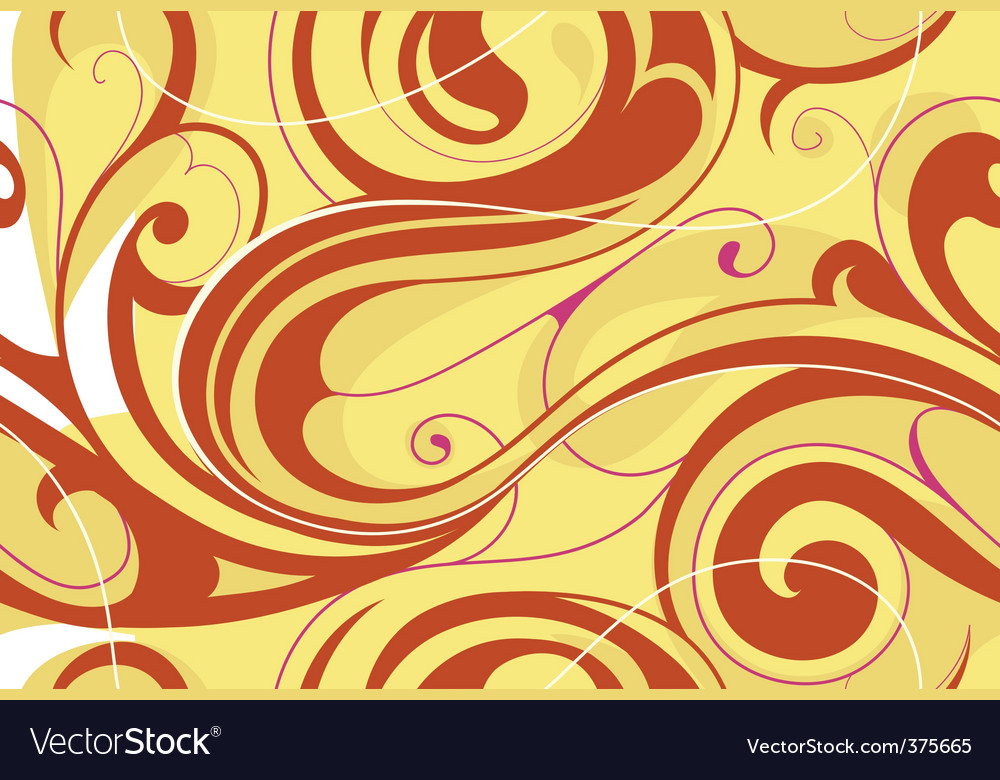 Swirly floral abstract vector | Price: 1 Credit (USD $1)