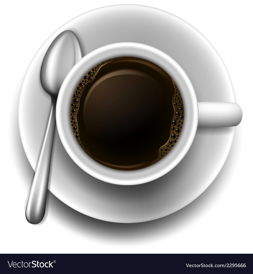 A topview of a cup of coffee vector | Price: 1 Credit (USD $1)