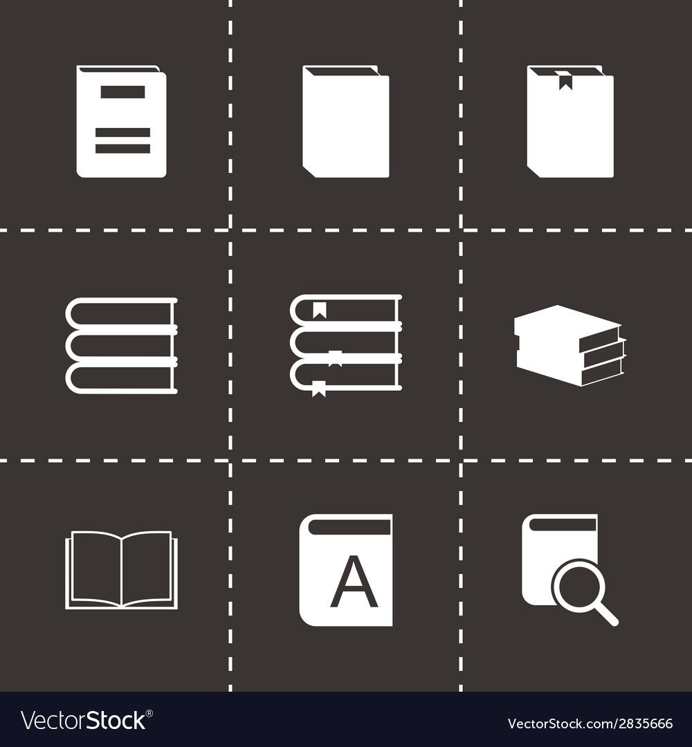 Black book icons set vector | Price: 1 Credit (USD $1)