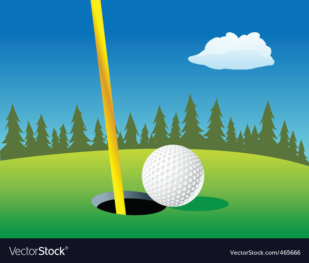 Golf ball landscape vector | Price: 1 Credit (USD $1)