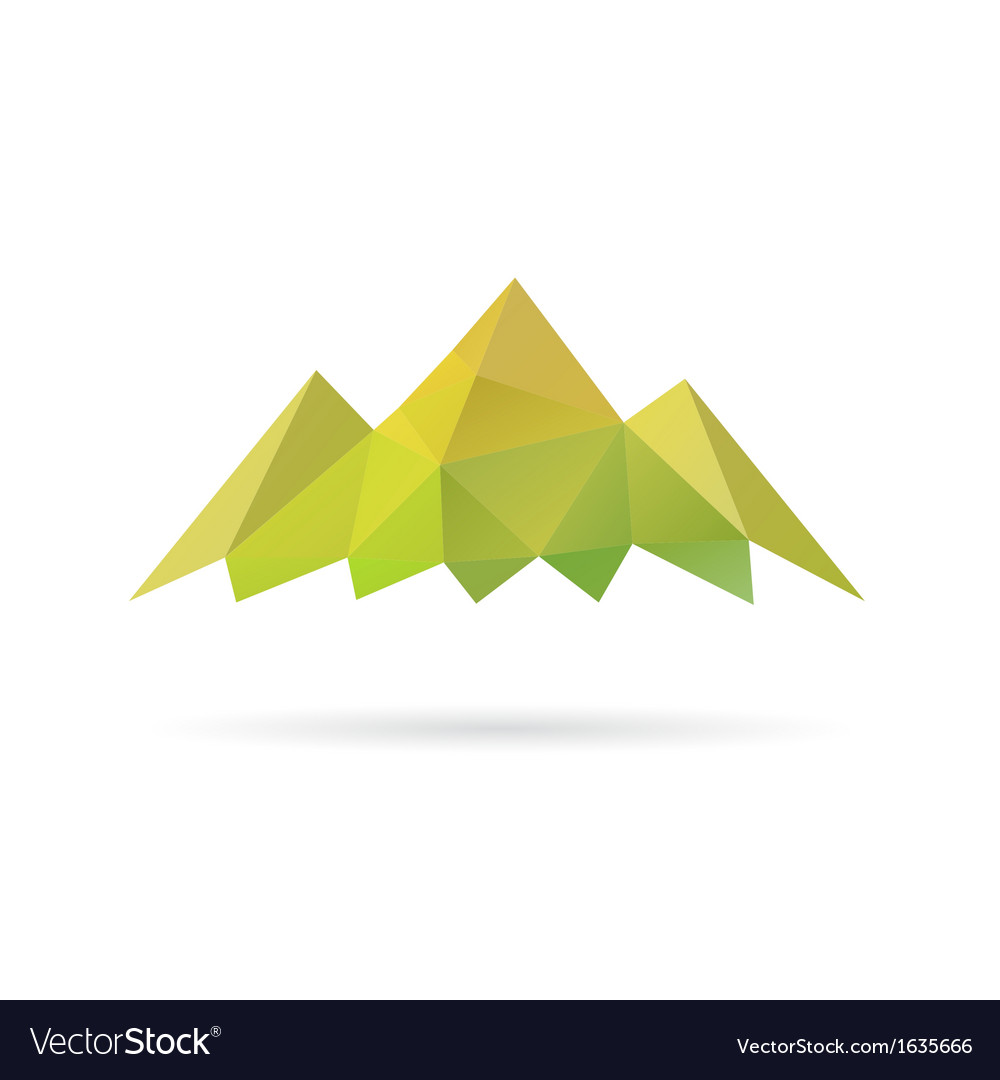 Green mountain abstract isolated vector | Price: 1 Credit (USD $1)