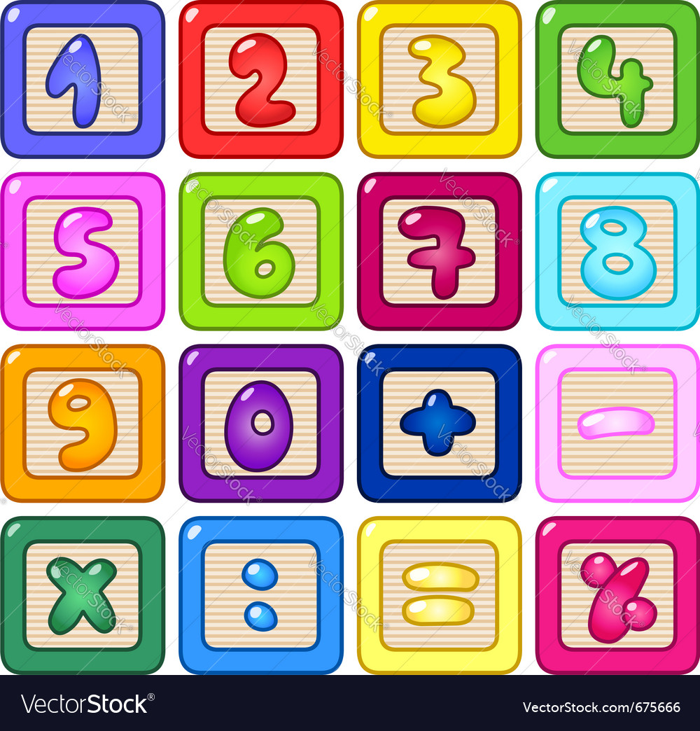 Number blocks vector | Price: 1 Credit (USD $1)