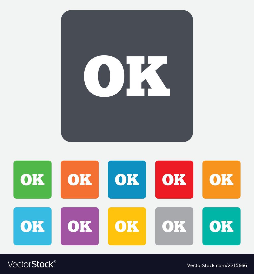 Ok sign icon positive check symbol vector | Price: 1 Credit (USD $1)
