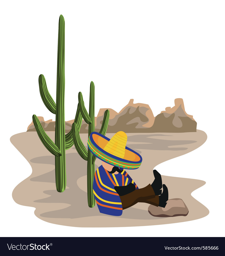 Sleeping mexican vector | Price: 1 Credit (USD $1)