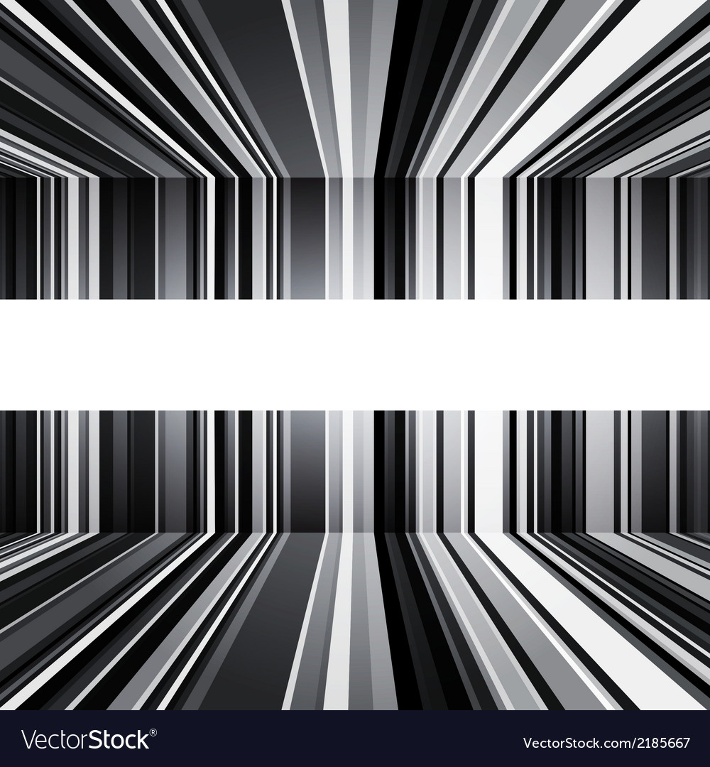 Abstract black and white warped stripes background vector | Price: 1 Credit (USD $1)
