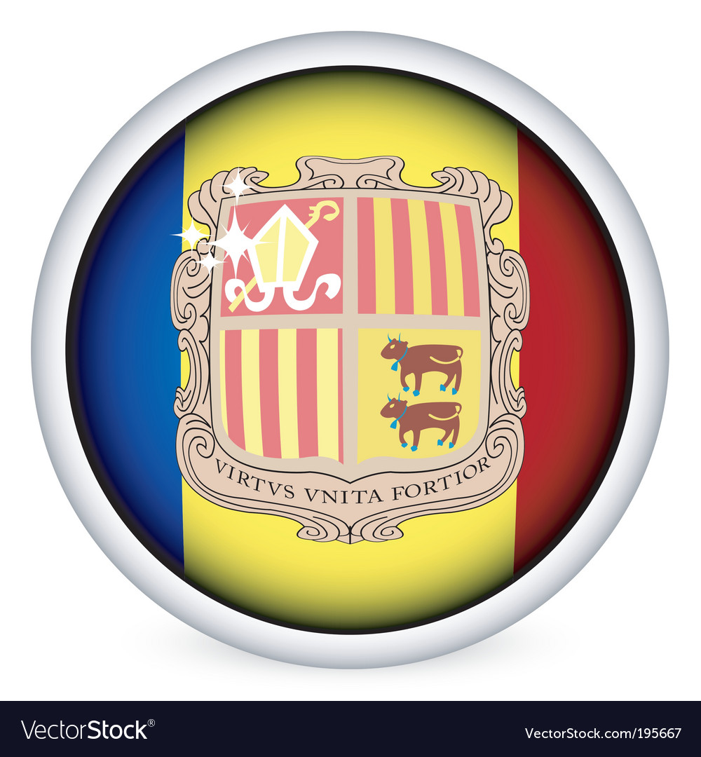 Andorra flag button vector | Price: 1 Credit (USD $1)