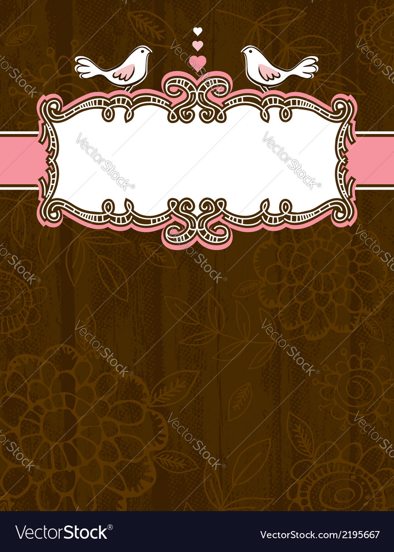 Brown grunge background with decorative label vector | Price: 1 Credit (USD $1)