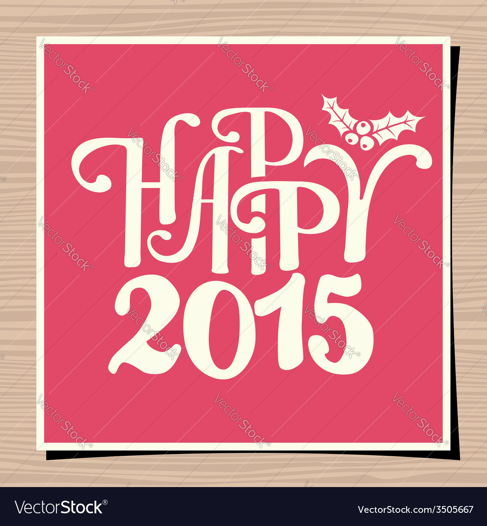 Happy new year 2015 greeting card template vector | Price: 1 Credit (USD $1)