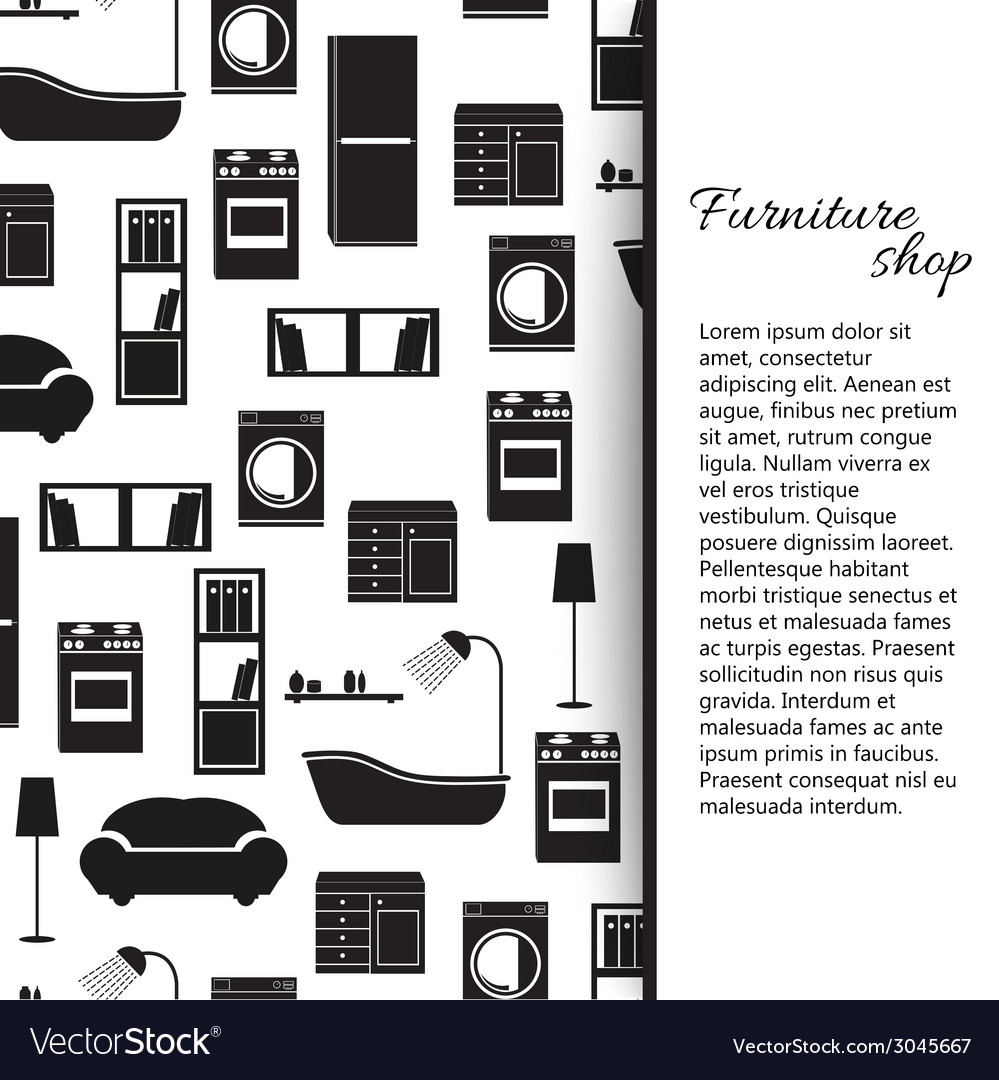 Home interior furniture background vector | Price: 1 Credit (USD $1)