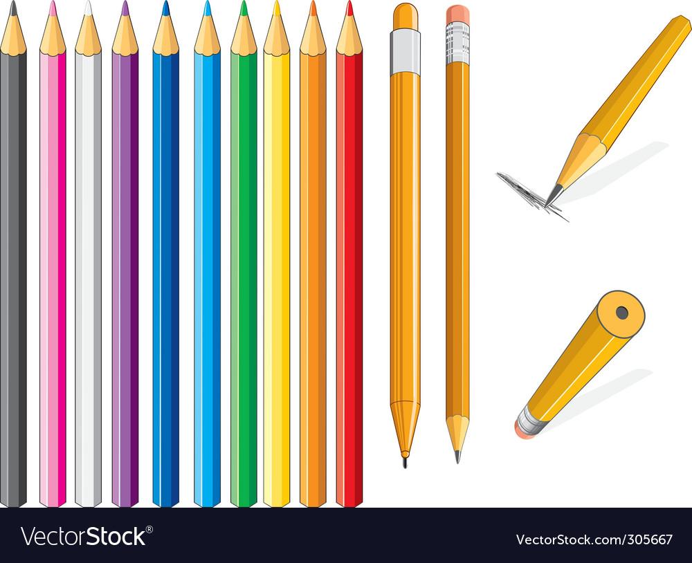 Pencil set vector   Price: 1 Credit (USD $1)