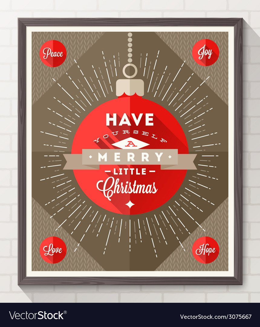 Poster with christmas type design vector | Price: 1 Credit (USD $1)