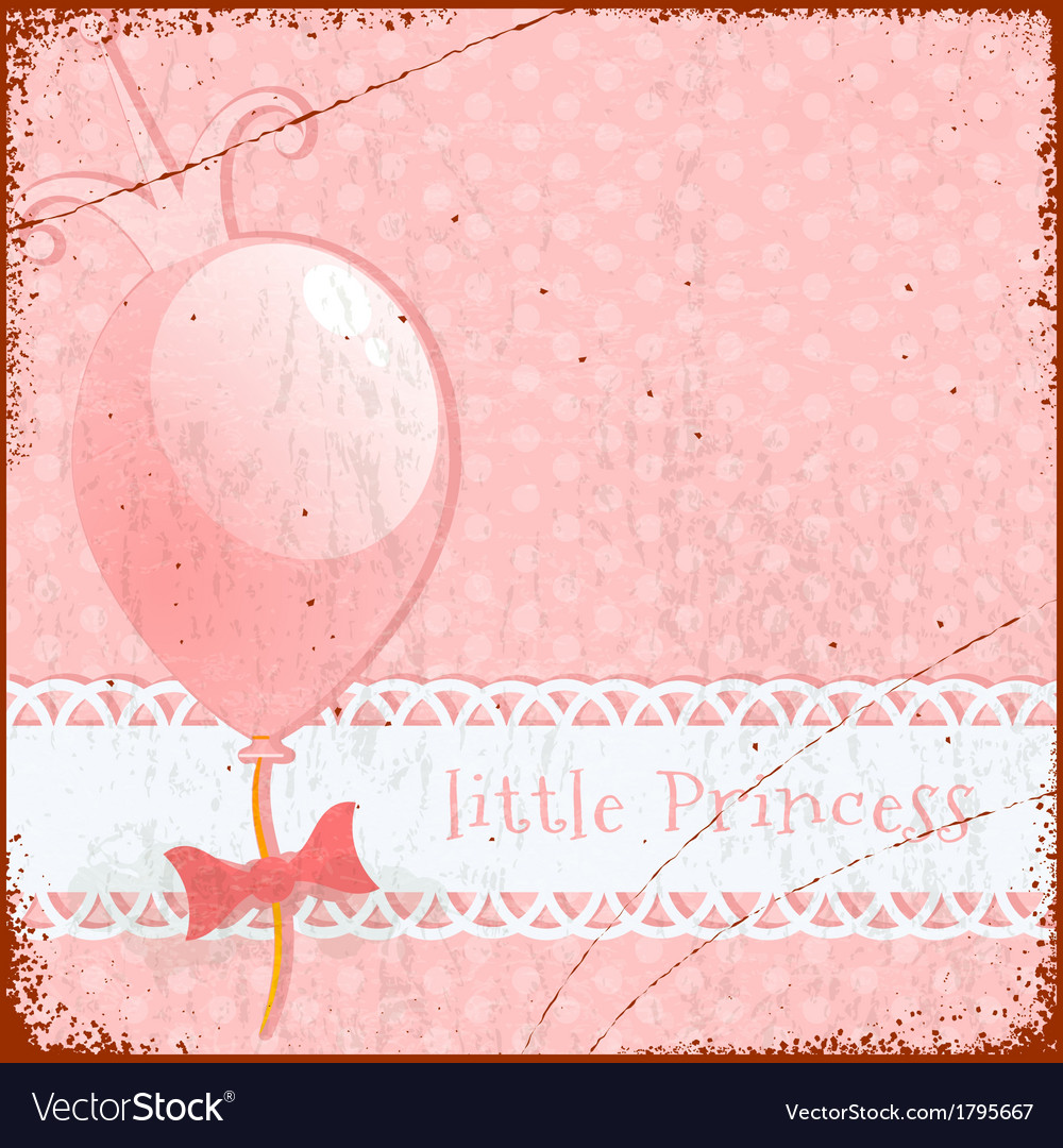 Retro background little princess vector | Price: 1 Credit (USD $1)