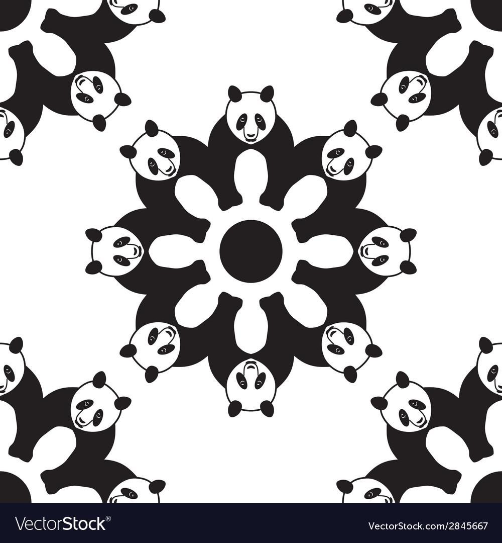 Seamless panda pattern vector | Price: 1 Credit (USD $1)