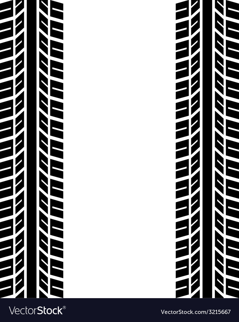 Seamless trace of the tyres vector | Price: 1 Credit (USD $1)