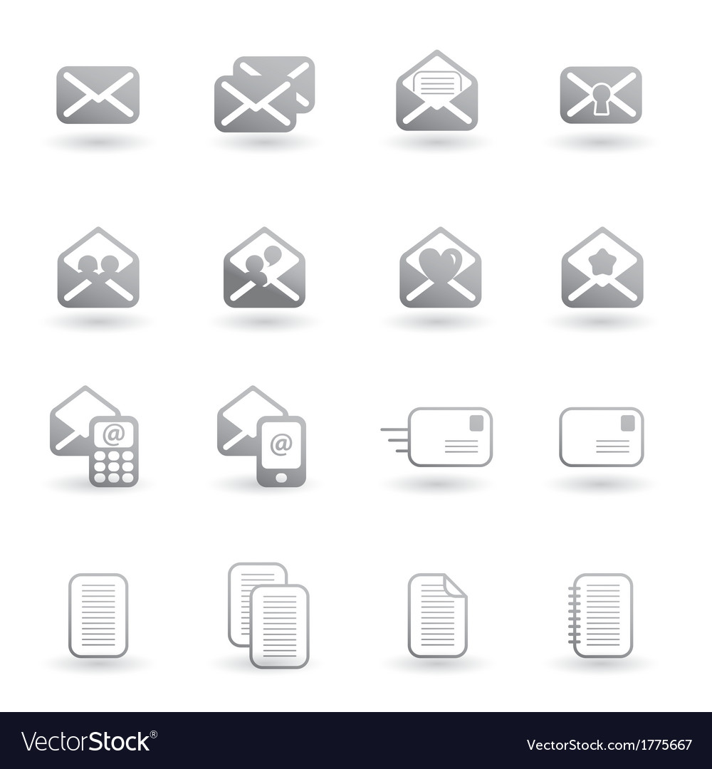 Set of mail icons vector | Price: 1 Credit (USD $1)