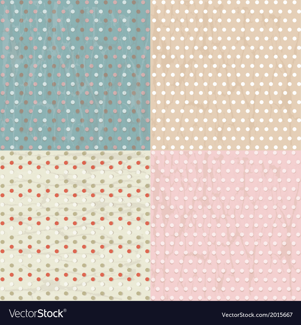 Vintage paper with polka dots set vector | Price: 1 Credit (USD $1)