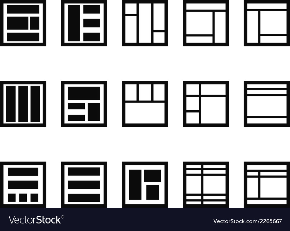 Web layout icons vector | Price: 1 Credit (USD $1)
