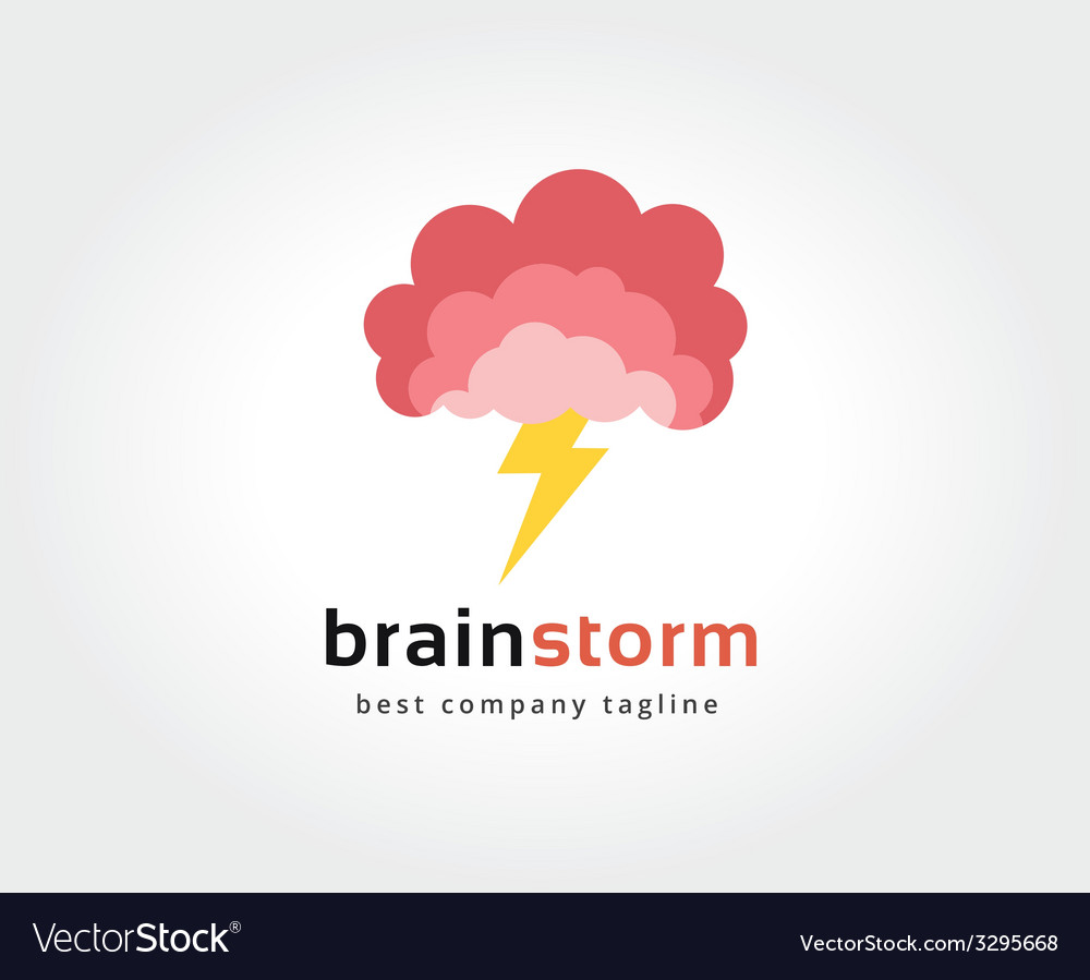 Abstract brain logo icon concept logotype template vector | Price: 1 Credit (USD $1)