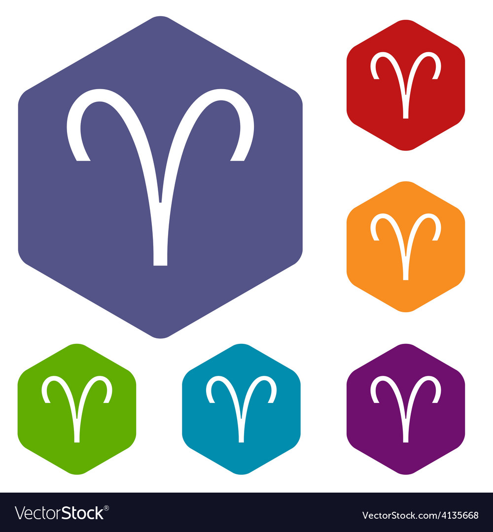 Aries rhombus icons vector | Price: 1 Credit (USD $1)