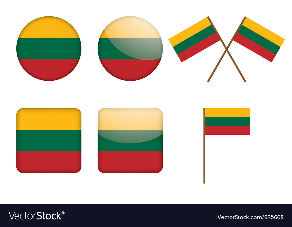 Badges with flag of lithuania vector | Price: 1 Credit (USD $1)