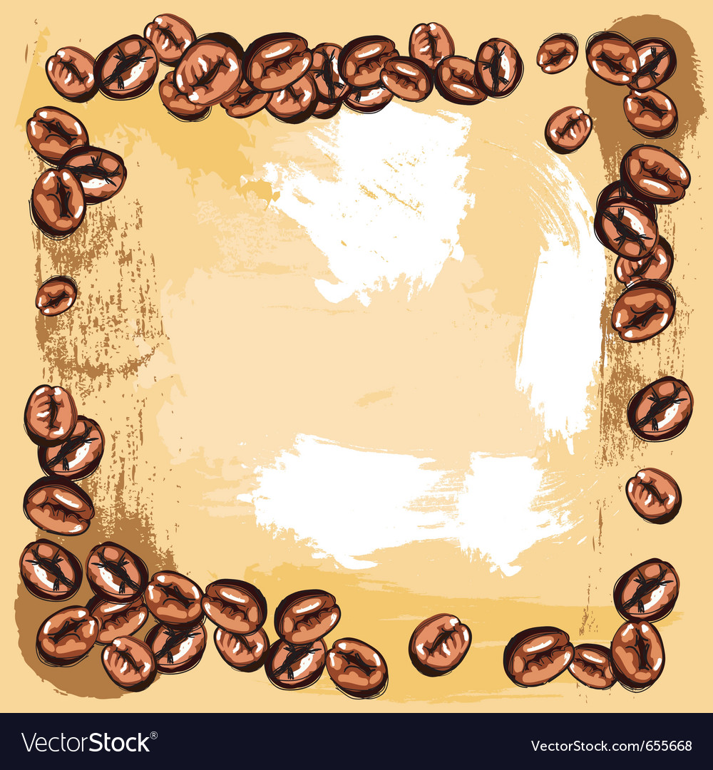 Coffee beans frame vector | Price: 1 Credit (USD $1)