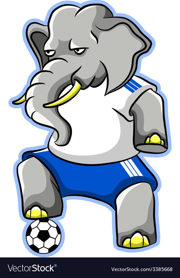 Elephant soccer vector | Price: 3 Credit (USD $3)