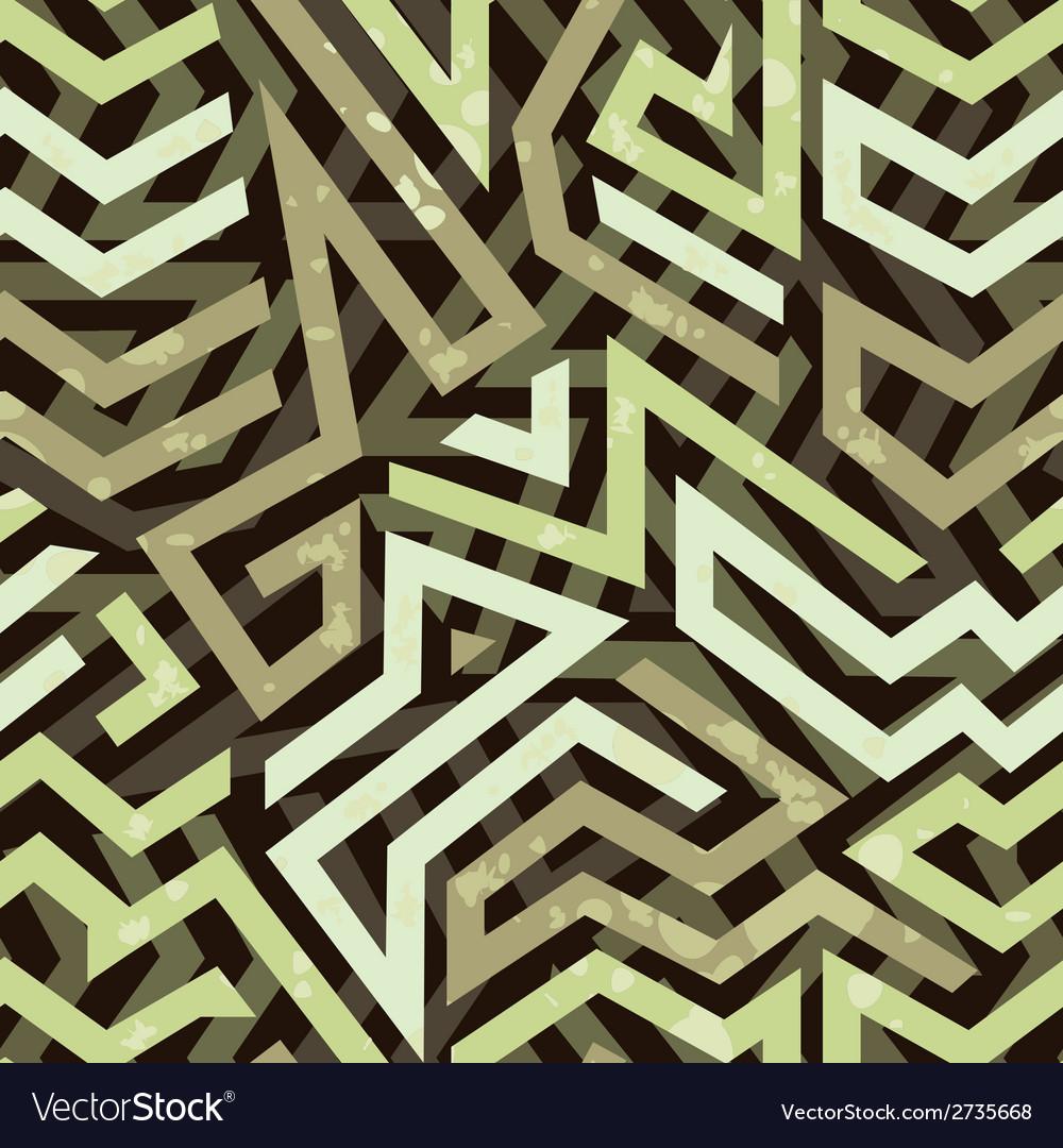 Graffiti grunge geometric seamless pattern vector | Price: 1 Credit (USD $1)