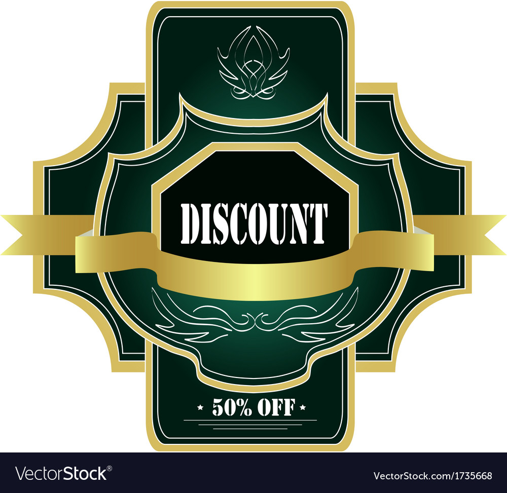 Green label vector | Price: 1 Credit (USD $1)