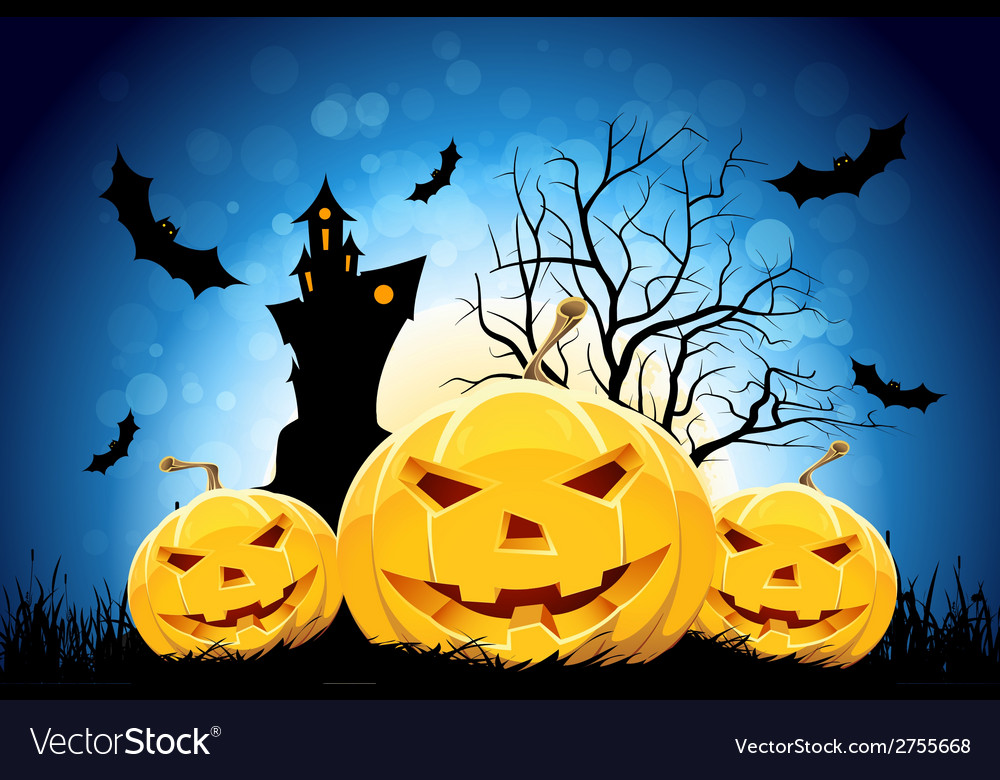 Halloween party background vector | Price: 1 Credit (USD $1)
