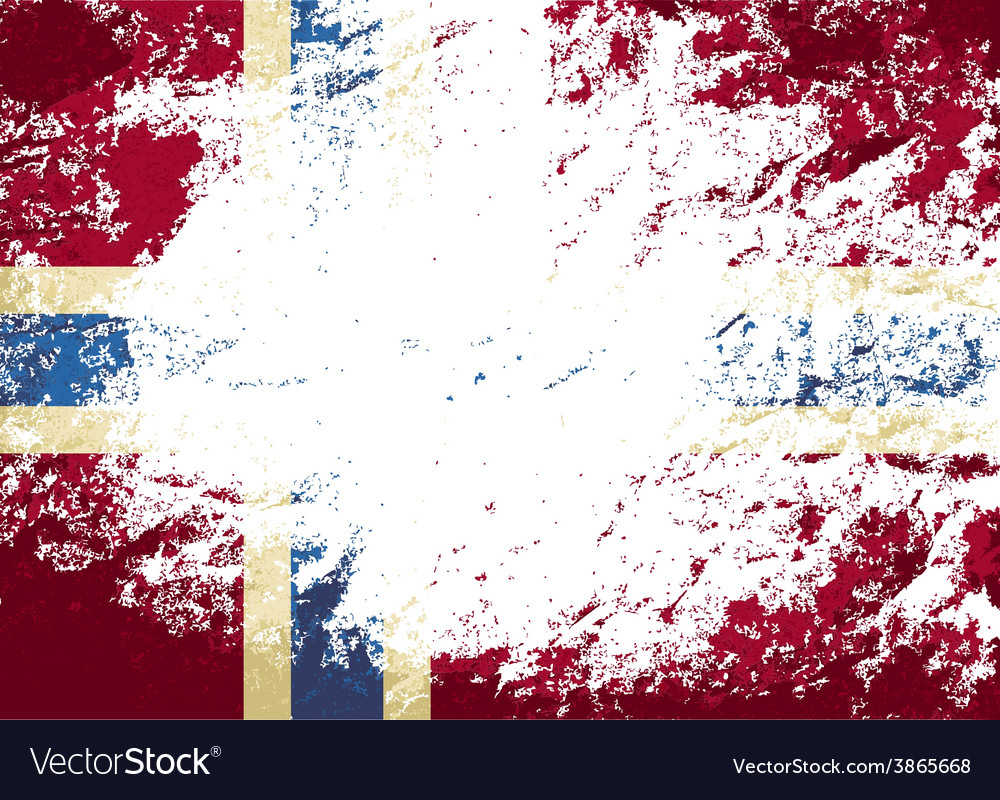 Norwegian flag grunge background vector | Price: 1 Credit (USD $1)